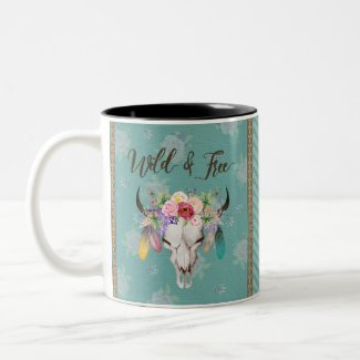 Wild & Free Coffee Mug (Faded Turquoise)
