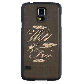 """Wild & Free"" Maple Wood Samsung Galaxy S5 Case Carved® Maple Galaxy S5 Slim Case"