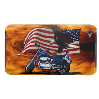 Wild & Free - Patriotic Eagle, Motorbike & US Flag Barely There iPod Case
