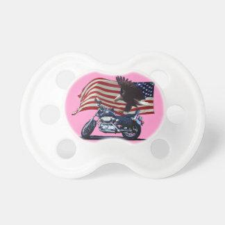 Wild & Free - Patriotic Eagle, Motorbike & US Flag BooginHead Pacifier