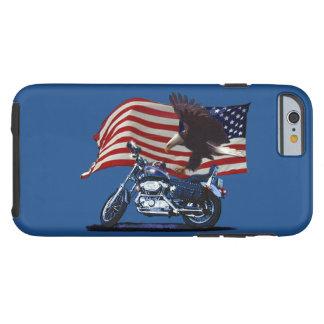 Wild & Free - Patriotic Eagle, Motorbike & US Flag Tough iPhone 6 Case