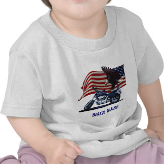 Wild Free - Patriotic Eagle Motorbike US Flag T-shirts