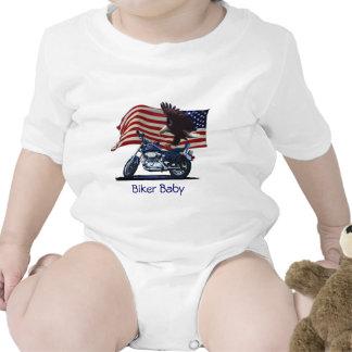 Wild Free - Patriotic Eagle Motorbike US Flag Bodysuit