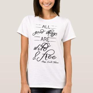 Wild & Free Thoreau Nature Quote T-shirt