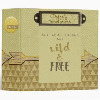 Wild & Free Travel Journal Binder