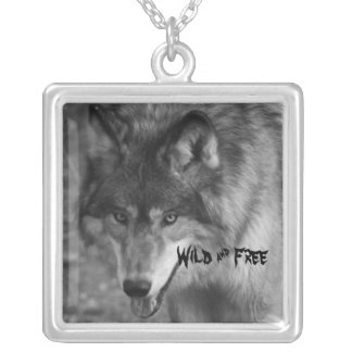 Wild & Free Wild Wolf Silver Necklace