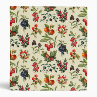 Wild Fruits Of The Countryside 3 Ring Binder