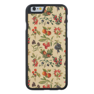 Wild Fruits Of The Countryside Carved Maple iPhone 6 Case