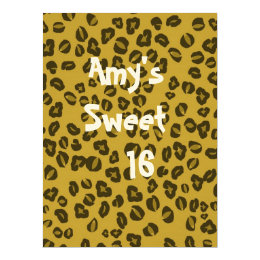 Wild ,Fun Invitation for Sweet 16's/21st birthday