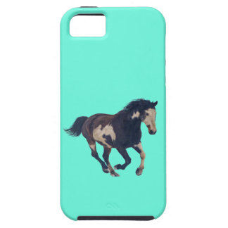Wild Galloping Pinto American Paint Horse iPhone 5 Case