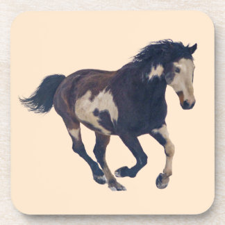Wild Galloping Pinto American Paint Horse Coaster