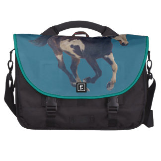 Wild Galloping Pinto American Paint Horse Laptop Commuter Bag