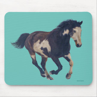 Wild Galloping Pinto American Paint Horse Mouse Pad