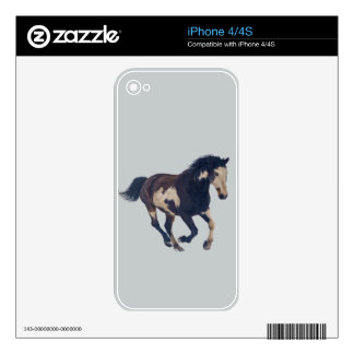 Wild Galloping Pinto American Paint Horse Decals For The iPhone 4