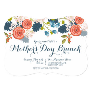 Mothers day invitations 1700 mothers day announcements invites wild garden floral mother39s day brunch invitation stopboris Images