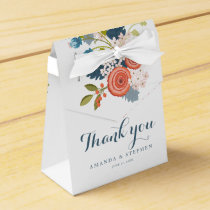 Wild Garden Floral Wedding Favor Box