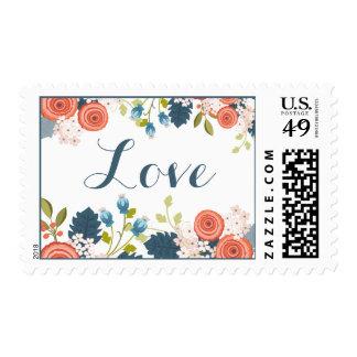 Wild Garden Floral Wedding Love Stamp