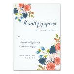 Wild Garden Floral Wedding RSVP Response Card