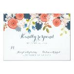 "Wild Garden Floral Wedding RSVP Response Card 3.5"" X 5"" Invitation Card"