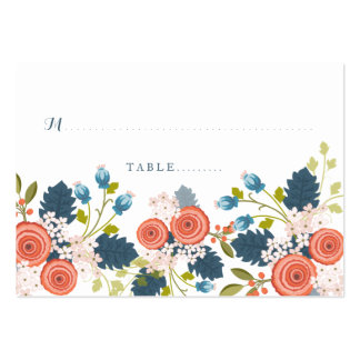 Wild Garden Floral Wedding Seating Card Large Business Card