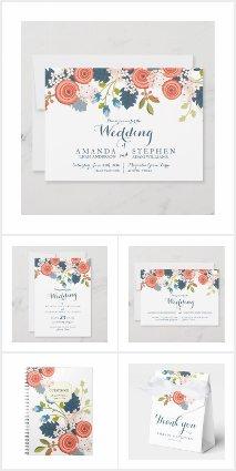 Wild Garden Floral Wedding Set