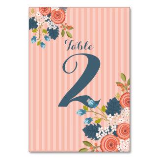 Wild Garden Floral Wedding Table Number Card