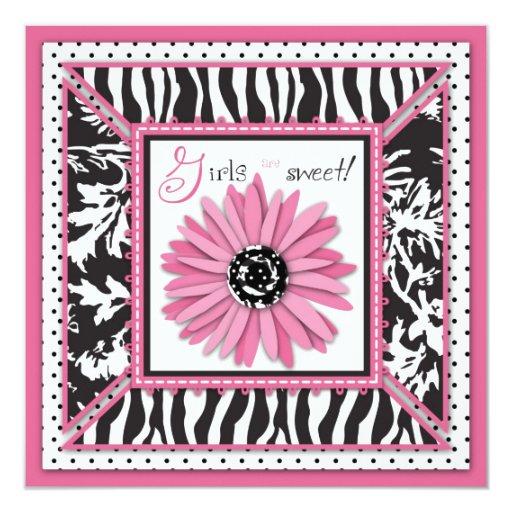 """Wild Garden HP Square 5.25"""" Square Invitation Card"""