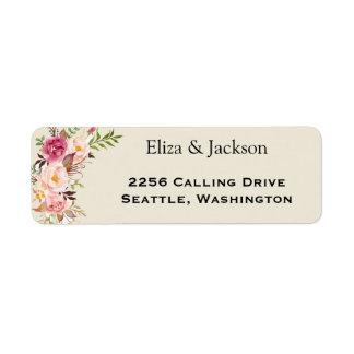 Wild Garden Wedding Return Address Label