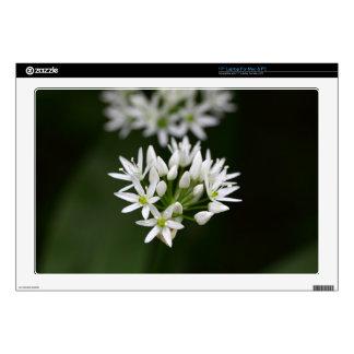 """Wild garlic or ramsons Allium ursinum 17"""" Laptop Decals"""