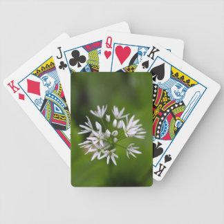 Wild garlic or ramsons Allium ursinum Bicycle Playing Cards