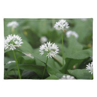Wild garlic or ramsons Allium ursinum Cloth Placemat
