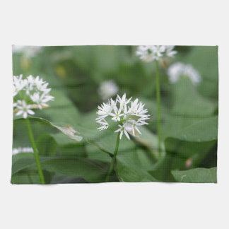 Wild garlic or ramsons Allium ursinum Hand Towel