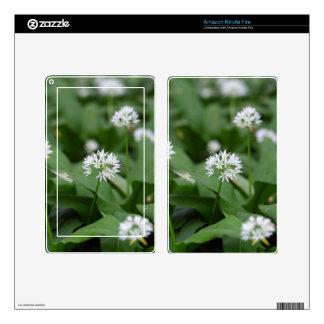 Wild garlic or ramsons Allium ursinum Kindle Fire Decals