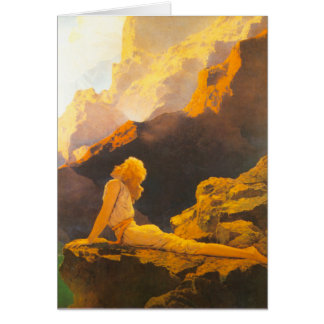 """""""Wild Geese"""", by Maxfield Parrish Greeting Card"""