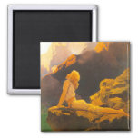 """""""Wild Geese"""", by Maxfield Parrish Refrigerator Magnet"""