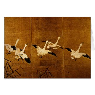 Wild Geese Greeting Card