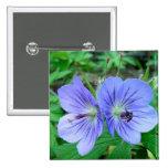 Wild Geranium 2 Inch Square Button