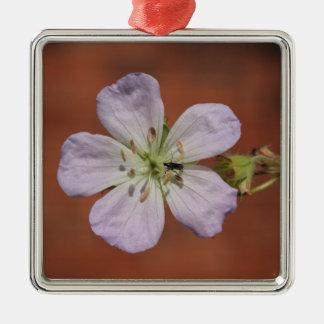 Wild Geranium Metal Ornament