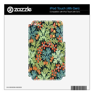 Wild Geranium Skins For iPod Touch 4G