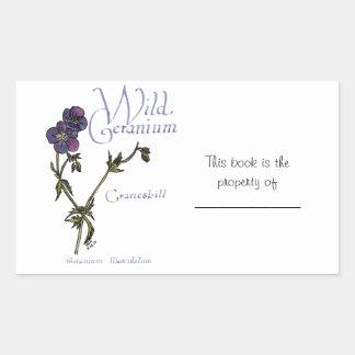 Wild Geranium Sticker