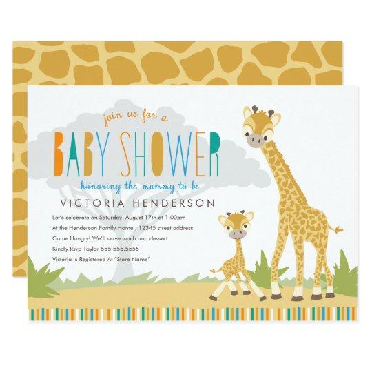 Wild giraffe baby shower invite zazzle wild giraffe baby shower invite filmwisefo