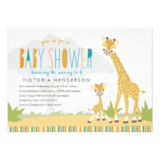 Wild Giraffe Baby Shower Invite