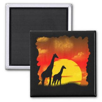 Wild Giraffe Magnet