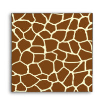 Wild Giraffe Pattern Animal Print Envelope
