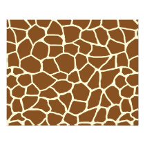 Wild Giraffe Pattern Animal Print Flyer
