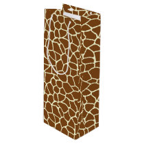 Wild Giraffe Pattern Animal Print Wine Gift Bag