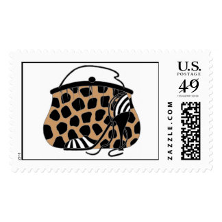 Wild Giraffe Shoe with Bag Purse Postage