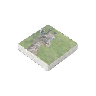 Wild Giraffe Stone Magnet