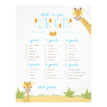 """Wild Giraffe What's in Your Purse? Game 8.5"""" X 11"""" Flyer"""