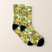 Wild Giraffes Pattern Socks